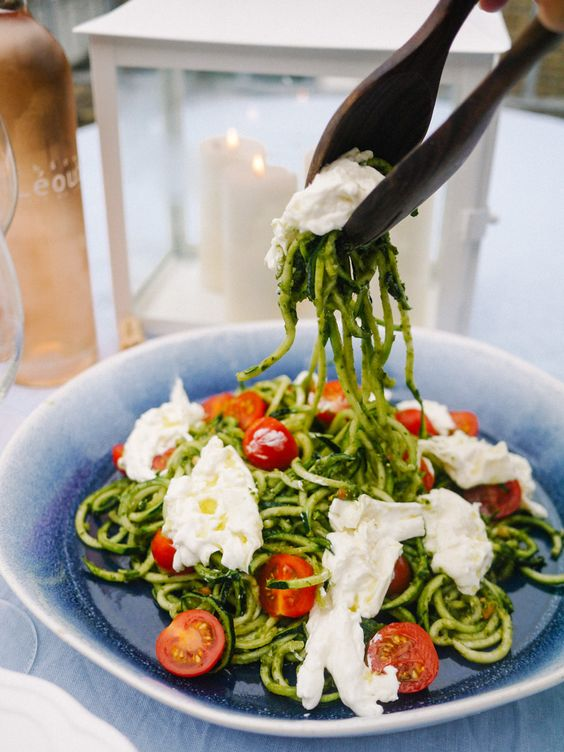 The Londoner Burrata Courgetti Recipe
