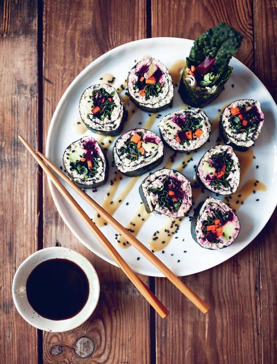 Deliciously Ella Kale Sushi