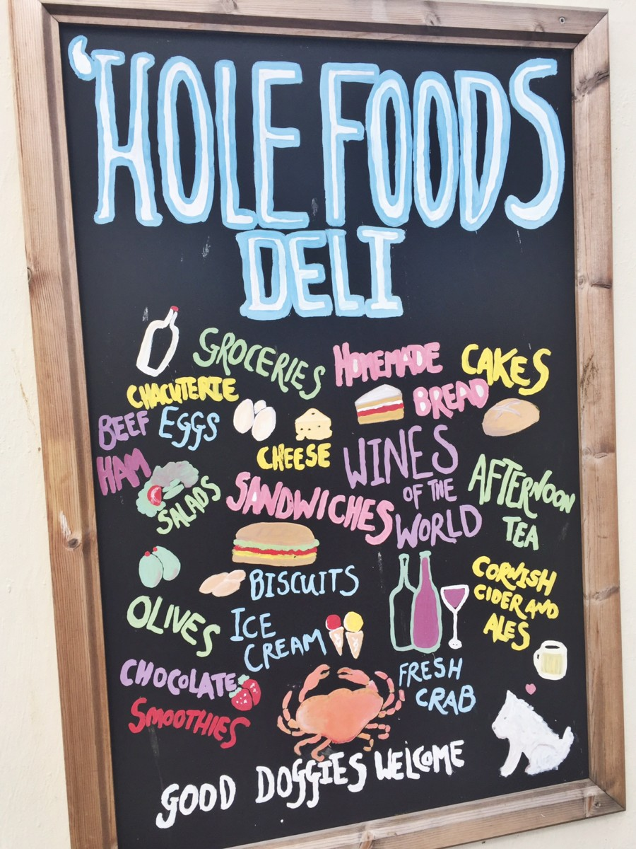 Hole Foods Deli in Mousehole, Penzance, Cornwall