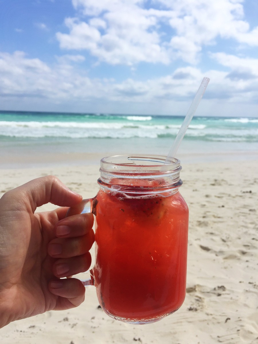 strawberry-margarita-tulum-beach