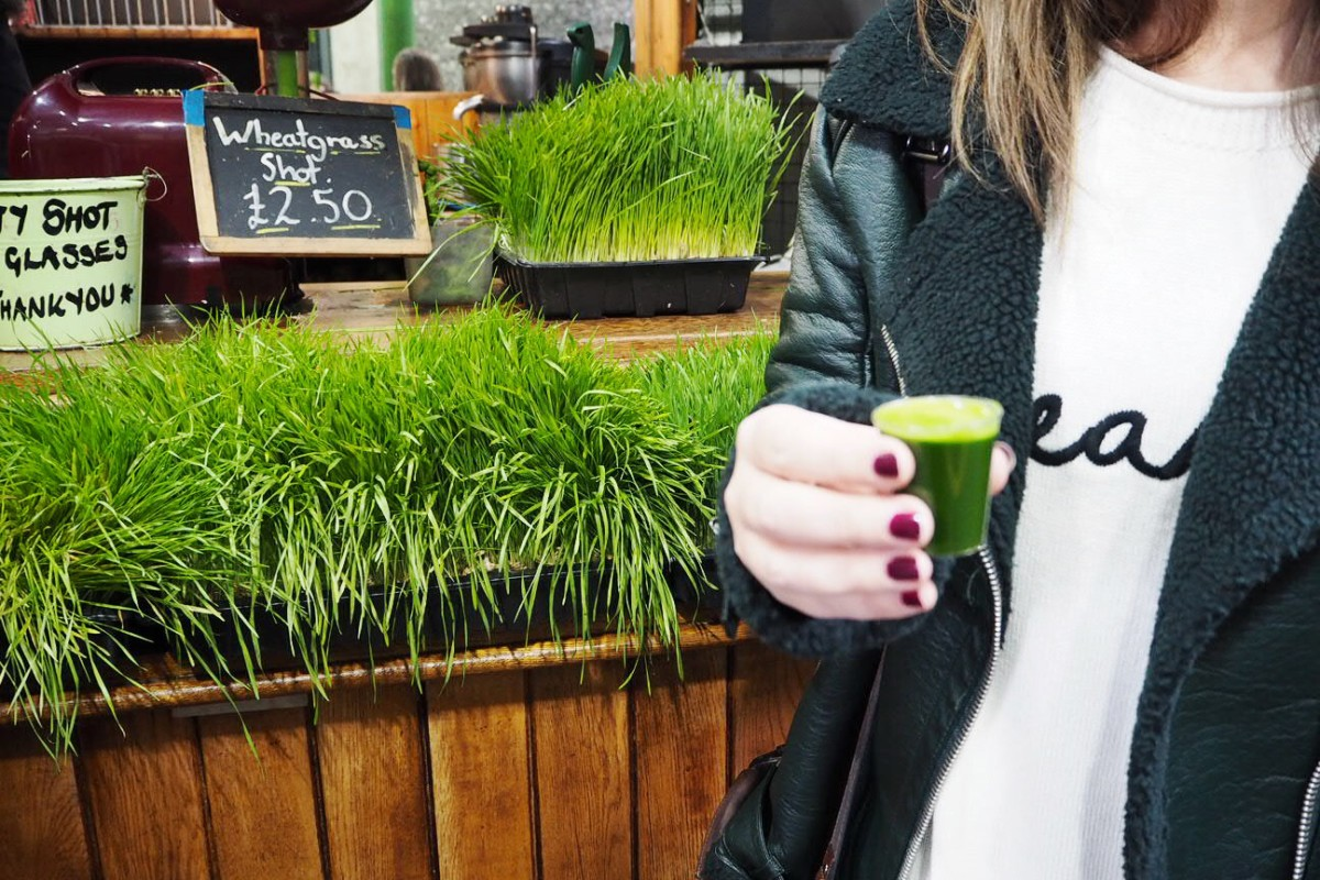 Borough Market Wheatgrass Shot