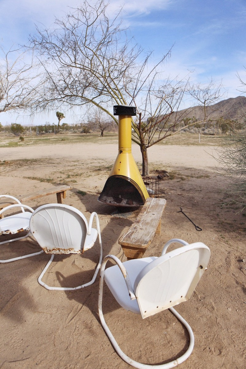 Joshua Tree Acres Camping Fire Pit